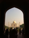 Tourists at Taj Mahal - Agra Royalty Free Stock Photos