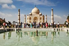 Tourists at Taj Mahal, Agra, Uttar Pradesh, India Royalty Free Stock Photography