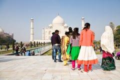 Tourists, Taj Mahal, India Stock Photo