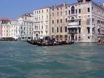 Tourists take a gondola ride stock photography