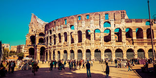 Tourists take a tour of the famous Colosseum in Rome, Italy Royalty Free Stock Photo