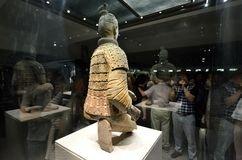 Tourists taking photo of  the Terracotta Warrior Royalty Free Stock Photography