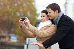 Tourists taking photos Royalty Free Stock Photography