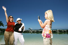 Tourists taking photos Royalty Free Stock Images