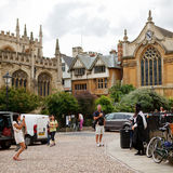 Tourists taking photos of graduates of Oxford Royalty Free Stock Photo