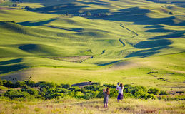 Tourists Taking Photos,  Palouse, Washington Stock Photography