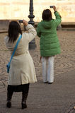 Tourists Taking Pictures Royalty Free Stock Images