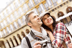 Tourists taking pictures on site Royalty Free Stock Photo