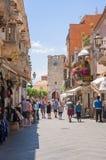 Tourists in Taormina Stock Photo