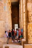 Tourists at Temple of Luxor - Egypt Royalty Free Stock Image