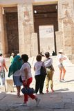 Tourists at Temple of Luxor - Egypt Royalty Free Stock Photo