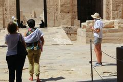 Tourists at Temple of Luxor - Egypt Stock Photography