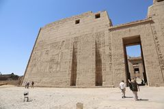 Tourists at Temple of Luxor - Egypt Stock Images