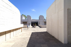 Tourists on the terrace of the building Joan Miro Foundation , Barcelona, Spain Royalty Free Stock Image