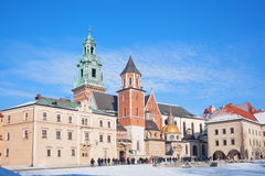 Tourists in the territory of the Wawel castle Stock Photography