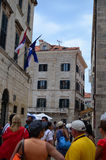 Tourists in Tipical little street  in old town of Dubrovnik ,Croatia Stock Photography