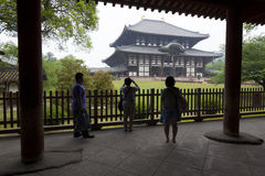 Tourists at Todaiji, Nara, Japan Royalty Free Stock Images