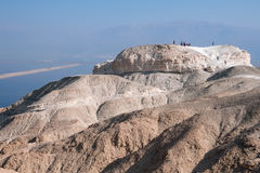 Tourists on the top  Mount Sodom. Stock Images