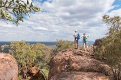 Tourists at the top of the Waterberg Plateau near Otjiwarongo Stock Photos