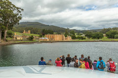 Tourists in Port Arthur Royalty Free Stock Photo