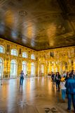 Interior of Catherine Palace in Saint Petersburg, Russia. stock photo