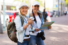 Tourists in town Stock Images