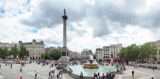 Tourists in Trafalgar Square, the City of Westminster, Central London, formerly known as Charing Cross Stock Photos