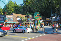 Tourists and traffic along the main road through Gatlinburg, Ten Royalty Free Stock Image