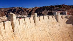Tourists and Traffic at Hoover Dam Stock Photography
