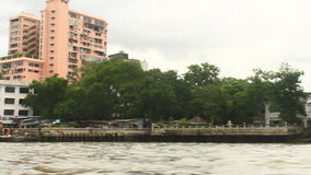 Tourists travel on the Chao Phraya river on a boat. Bangkok, Thailand, Tourists travel on the Chao Phraya river on a boat stock video