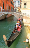 Tourists travel  on gondolas Stock Image