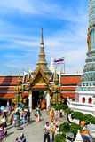 Tourists travel to Wat Phra Kaew and Grand Palace in Bangkok, Thailand. Stock Photo