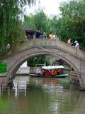 Tourists traveling Zhaojialou ancient town Stock Image