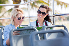 Tourists travelling bus Royalty Free Stock Images
