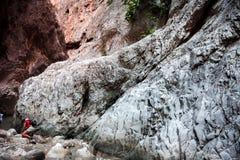 Tourists trekking in Saklikent Gorge Stock Images
