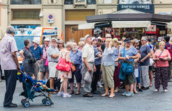 Tourists on a trip to Florence Royalty Free Stock Photo