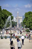 Tourists a Tuileries garden Royalty Free Stock Photo