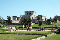 Tourists in tulum Royalty Free Stock Image