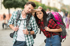 Tourists Royalty Free Stock Photos