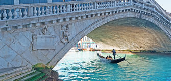 Tourists under Rialto Stock Images