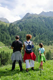 Tourists in val passiria Royalty Free Stock Photo