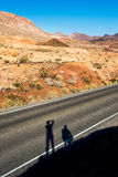 Tourists in Valley of Fire National Park Stock Photography