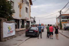 Tourists in Vama Veche Stock Photo