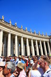 Tourists in Vatican City stock photography