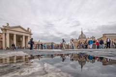 Tourists at Vatican City, Italy royalty free stock image
