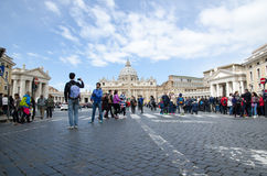 Tourists in Vatican City Royalty Free Stock Photo