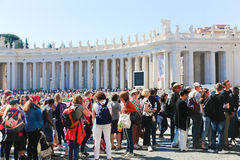 Tourists at Vatican - Italy Royalty Free Stock Images