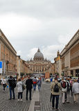 Tourists in Vatican Royalty Free Stock Images