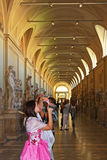 Tourists in Vatican museum Royalty Free Stock Photo