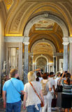Tourists in Vatican museum Stock Images